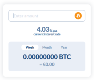 Bitwala earn interest