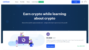 Coinbase earn Orchid (OXT)