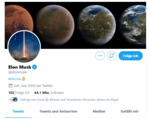 Elon Musk und Bitcoin