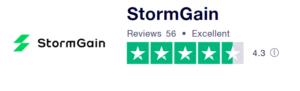 StormGain review Trustpilot