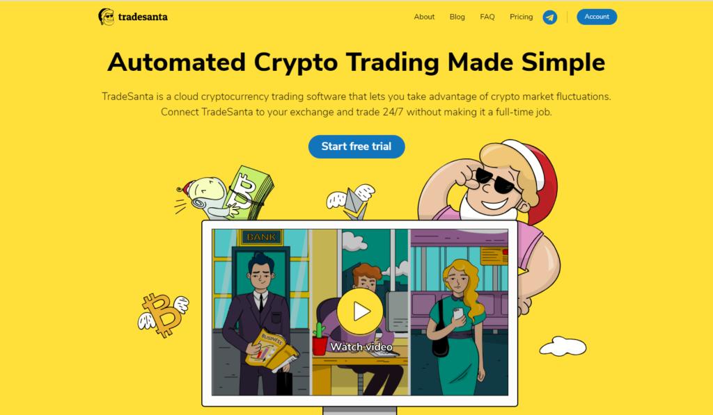 Trade santa Homepage review