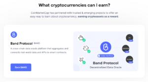 Coinmarketcap earn band protocol (BAND)